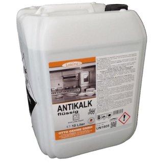 Antikalk flüssig, Flüssigentkalker für gewerbliche Spülmaschinen  a 10 L