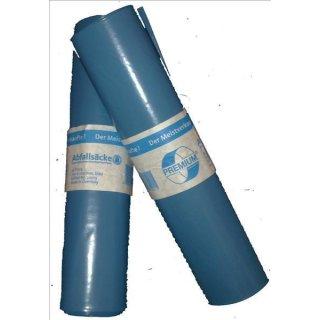 Müllsack 120 l, blau Typ 100, Rolle a 25 Stück