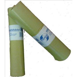 Müllsack 120l, gelb, Typ 60, a 25 Stück/Rolle