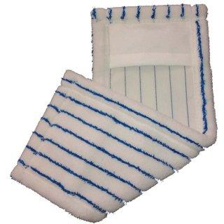 Micro Borstenmopp 40 cm weiß/blau,