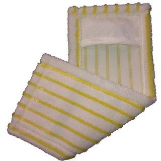 Microfaser - Borstenmop, weiß/gelb, mit Tasche, a 40 cm